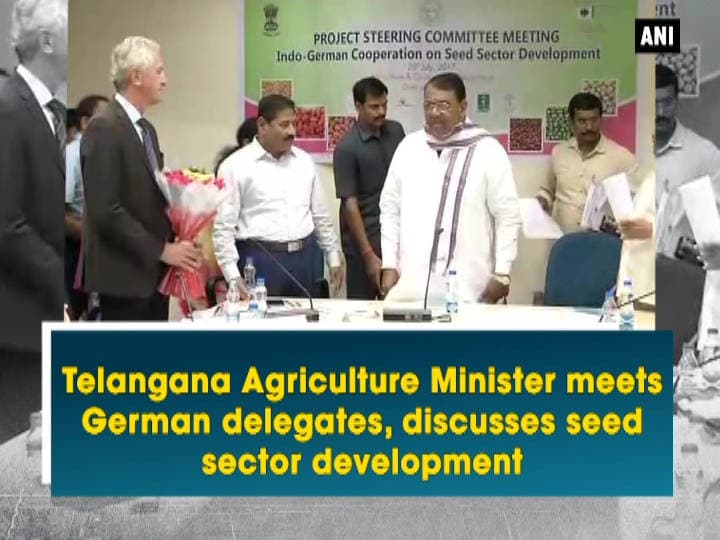 Telangana Agriculture Minister meets German delegates, discusses seed sector development