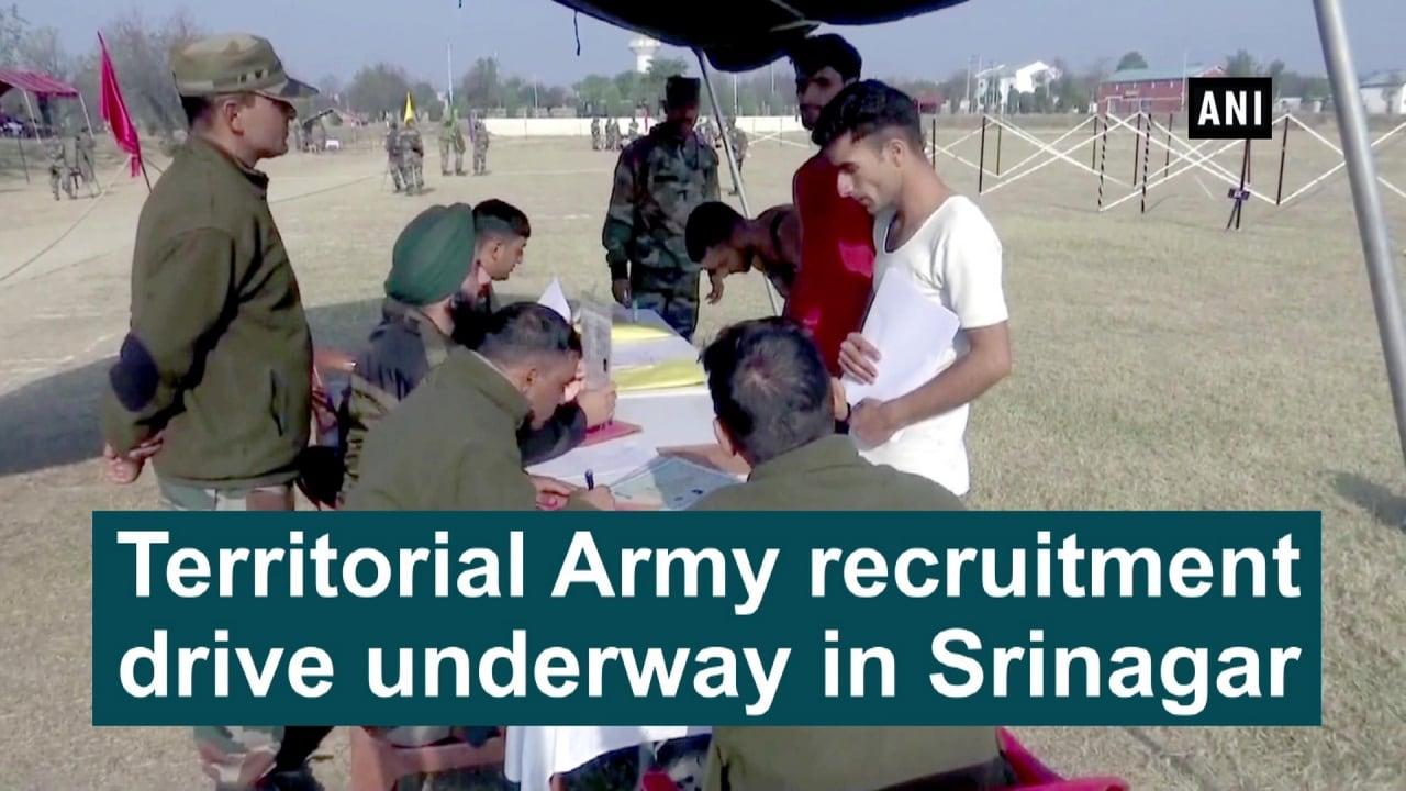 Territorial Army recruitment drive underway in Srinagar