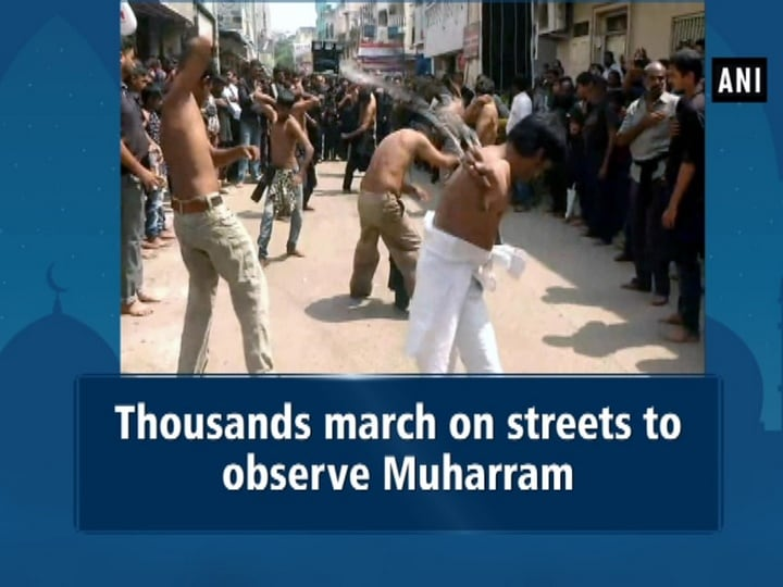 Thousands march on streets to observe Muharram