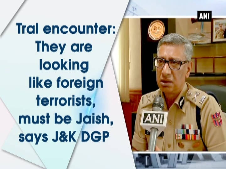 Tral encounter: They are looking like foreign terrorists, must be Jaish, says J and K DGP