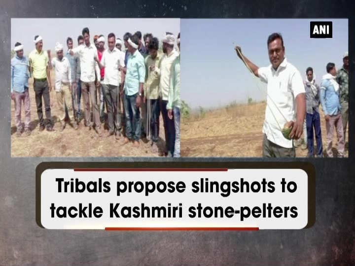 Tribals propose slingshots to tackle Kashmiri stone-pelters