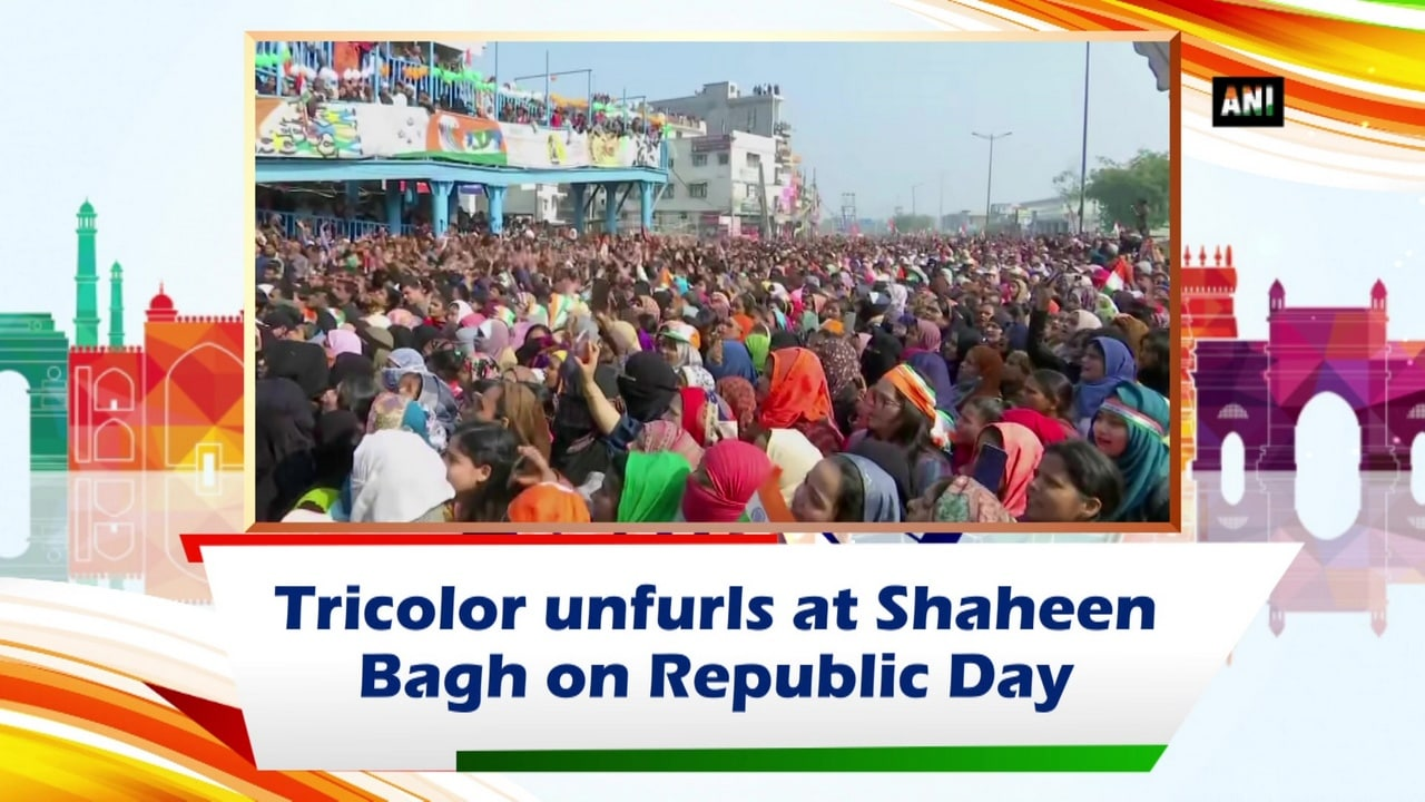 Tricolor unfurls at Shaheen Bagh on Republic Day