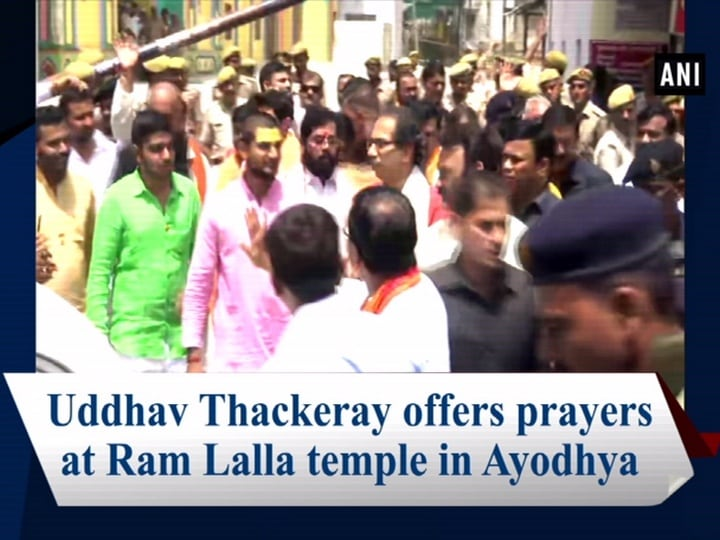 Uddhav Thackeray offers prayers at Ram Lalla temple in Ayodhya