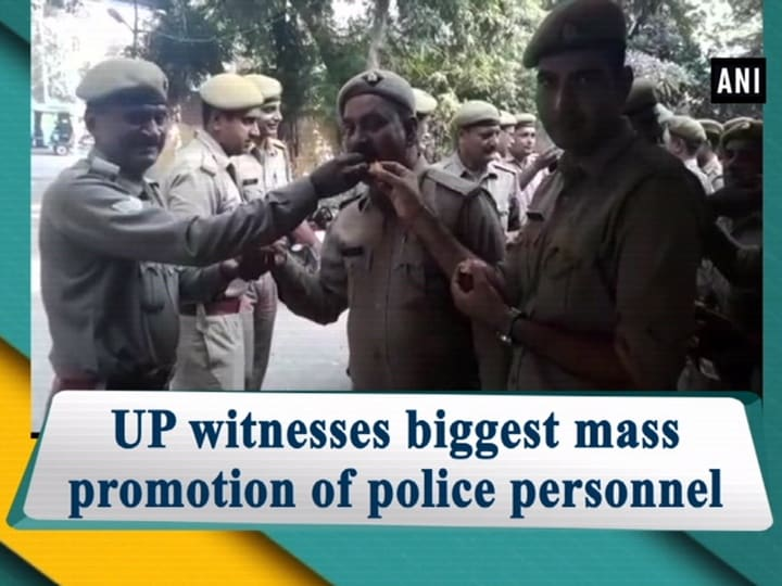UP witnesses biggest mass promotion of police personnel