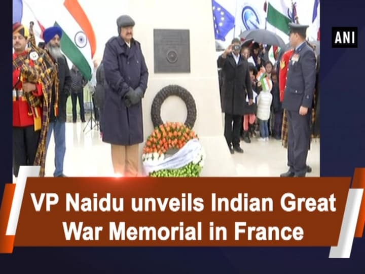 VP Naidu unveils Indian Great War Memorial in France