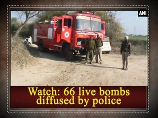 Watch: 66 live bombs diffused by police