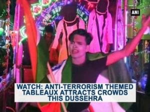 Watch: Anti-terrorism themed tableaux attracts crowds this Dussehra