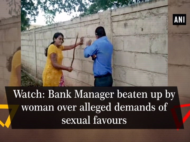 Watch: Bank Manager beaten up by woman over alleged demands of sexual favours