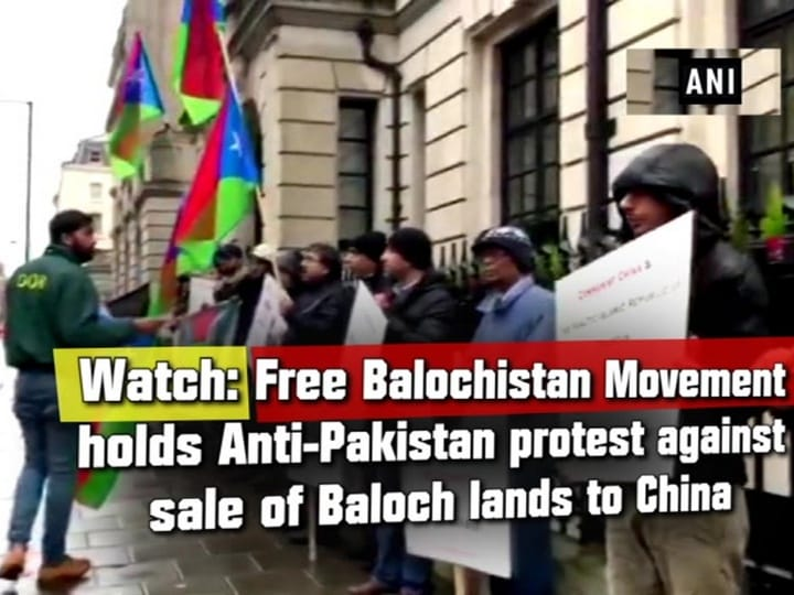 Watch: Free Balochistan Movement holds Anti-Pakistan protest against sale of Baloch lands to China