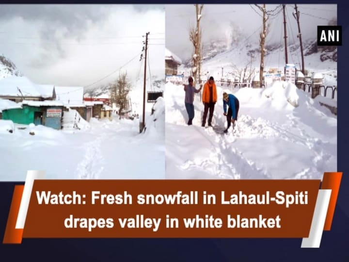 Watch: Fresh snowfall in Lahaul-Spiti drapes valley in white blanket