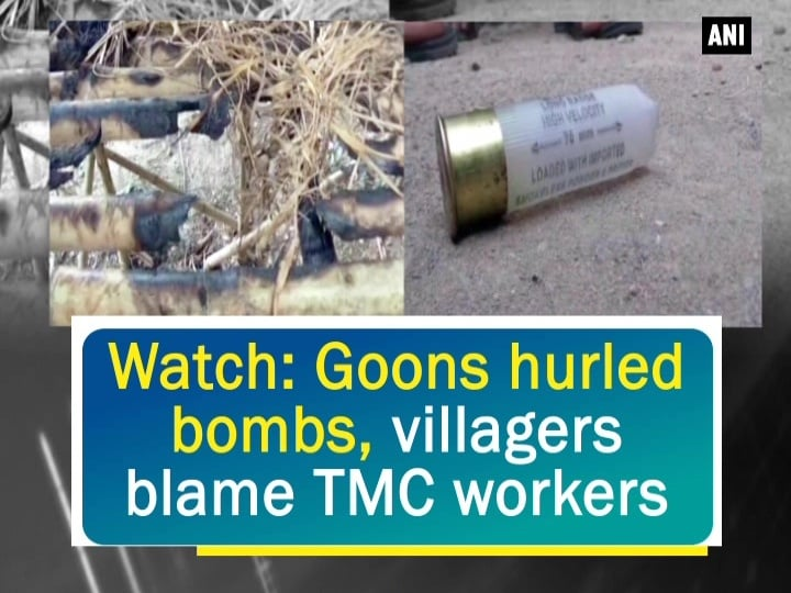 Watch: Goons hurled bombs, villagers blame TMC workers