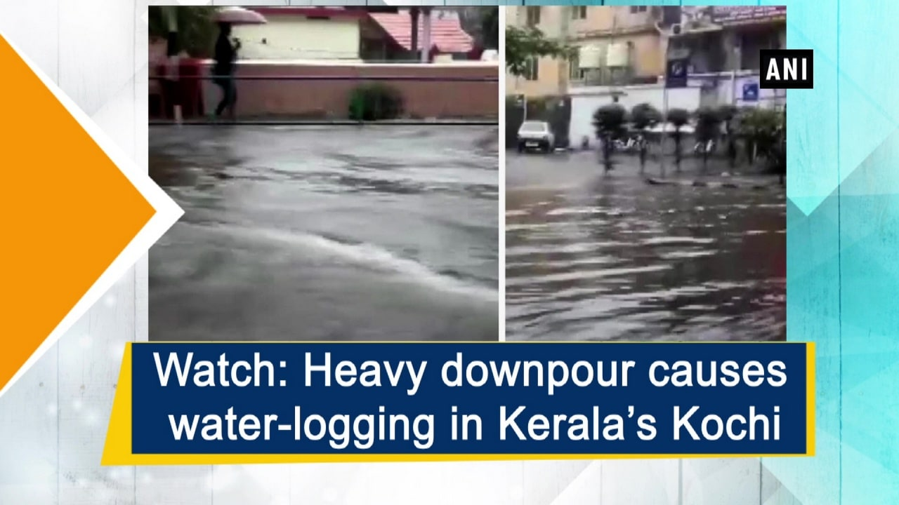 Watch: Heavy downpour causes water-logging in Kerala's Kochi