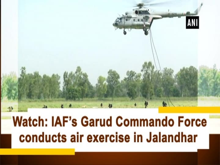 Watch: IAF's Garud Commando Force conducts air exercise in Jalandhar