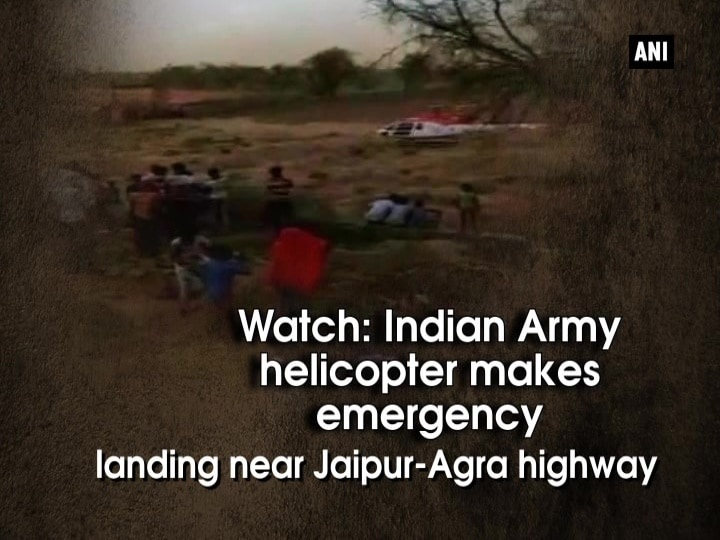 Watch: Indian Army helicopter makes emergency landing near Jaipur-Agra highway
