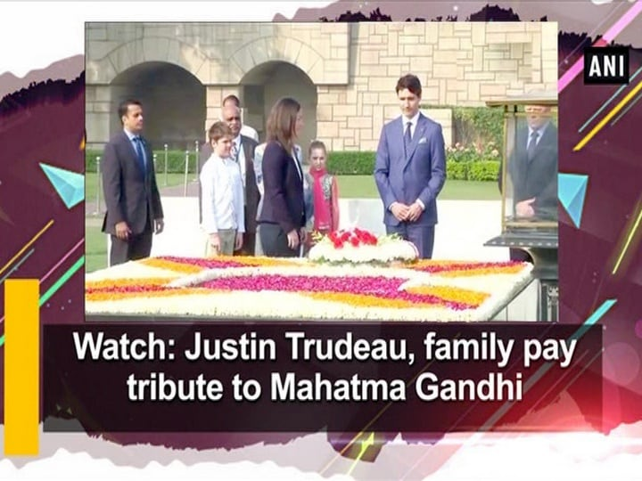 Watch: Justin Trudeau, family pay tribute to Mahatma Gandhi