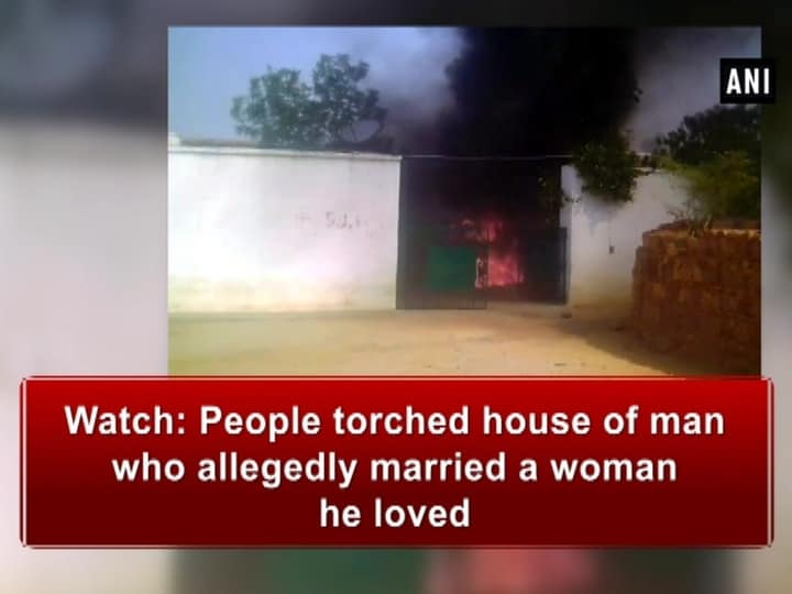 Watch: People torched house of man who allegedly married a woman he loved