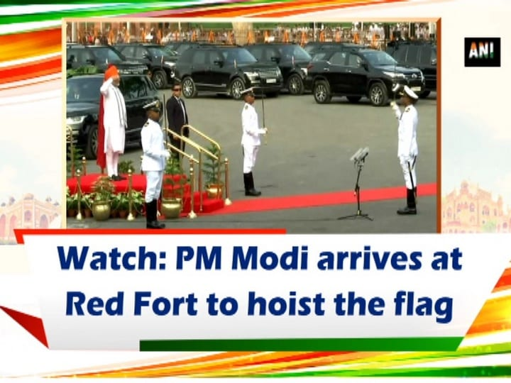 Watch: PM Modi arrives at Red Fort to hoist the flag