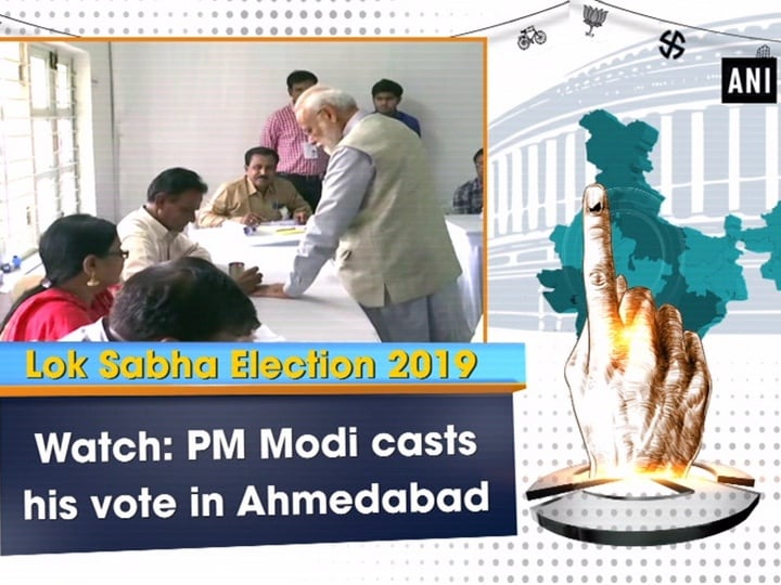 Watch: PM Modi casts his vote in Ahmedabad