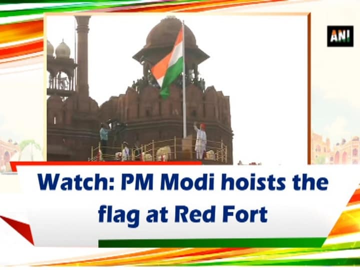 Watch: PM Modi hoists the flag at Red Fort