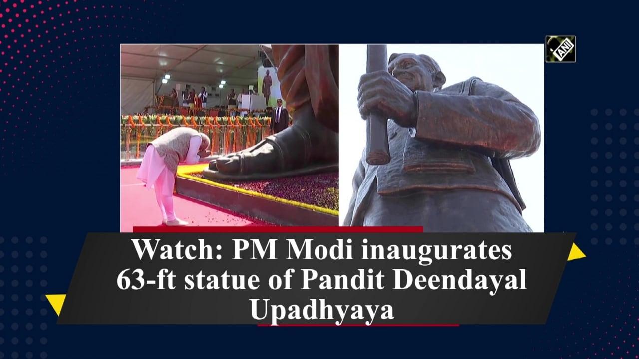Watch: PM Modi inaugurates 63-ft statue of Pandit Deendayal Upadhyaya