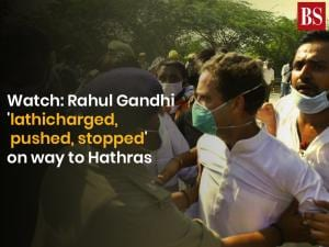 Watch: Rahul Gandhi 'lathicharged', pushed, stopped' on way to Hathras