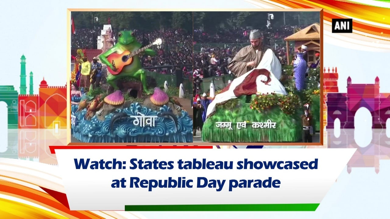 Watch: States tableau showcased at Republic Day parade