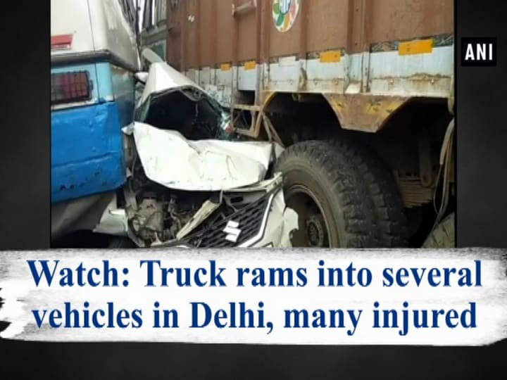 Watch: Truck rams into several vehicles in Delhi, many injured