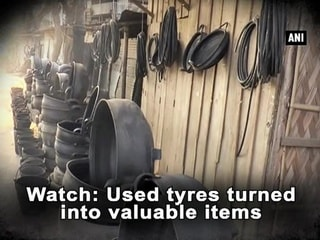 Watch: Used tyres turned into valuable items