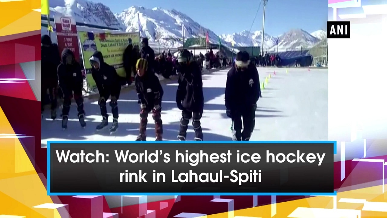 Watch: World's highest ice hockey rink in Lahaul-Spiti