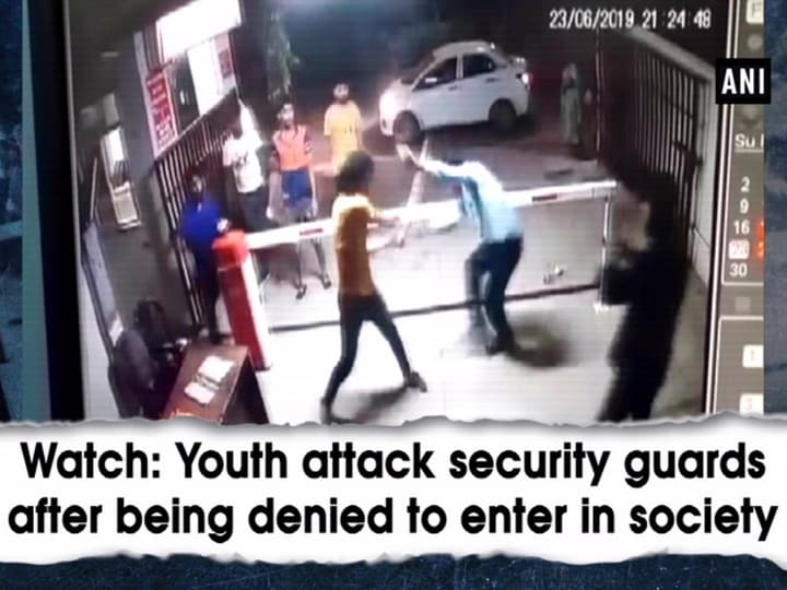 Watch: Youth attack security guards after being denied to enter in society