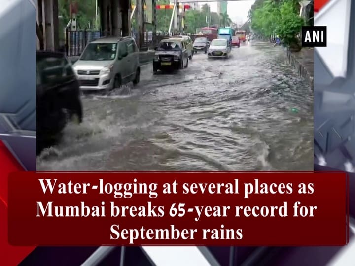 Water-logging at several places as Mumbai breaks 65-year record for September rains