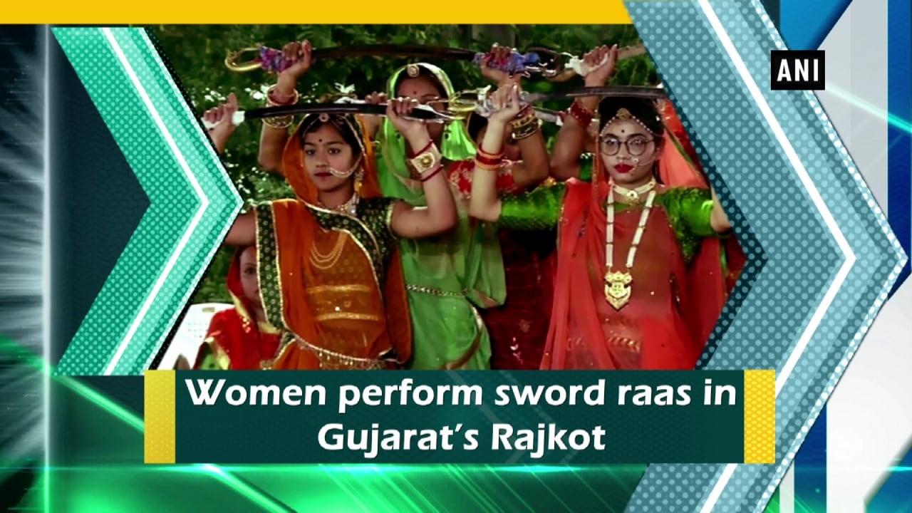 Women perform sword raas in Gujarat's Rajkot