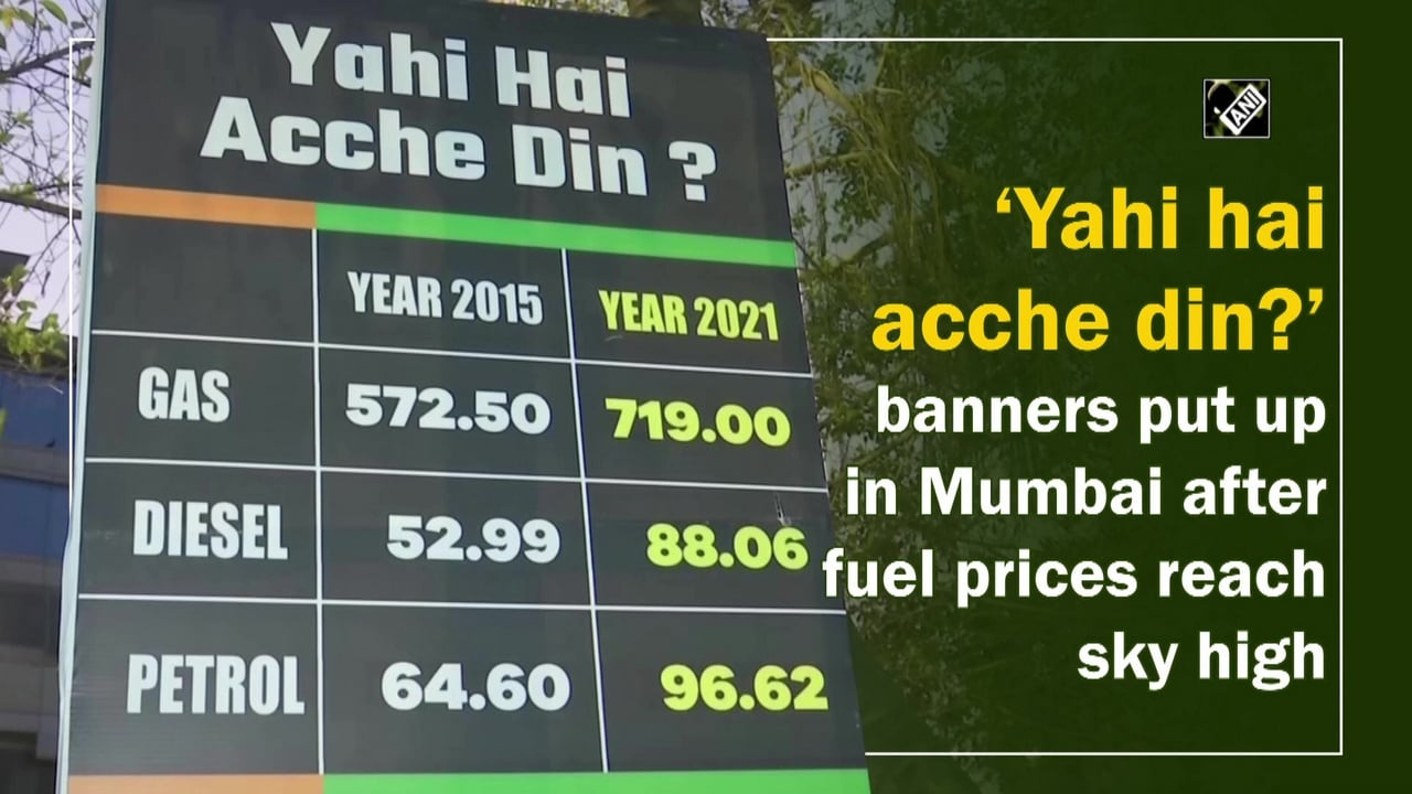 'Yahi hai acche din?' banners put up in Mumbai after fuel prices reach sky high