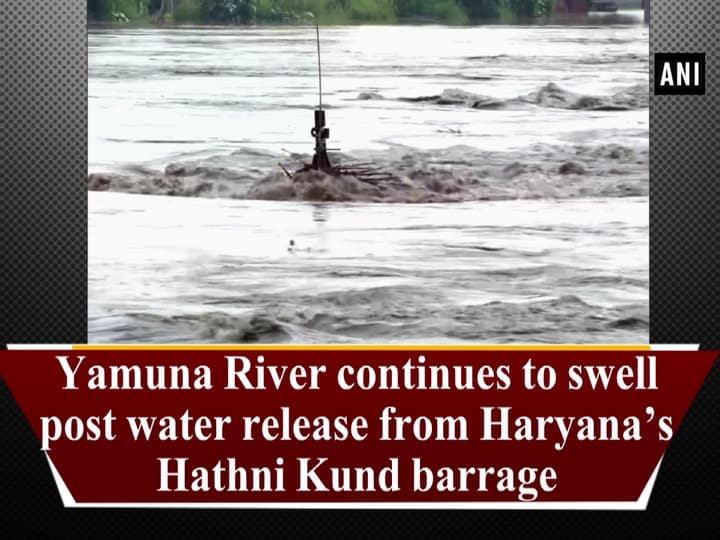 Yamuna River continues to swell post water release from Haryana's Hathni Kund barrage