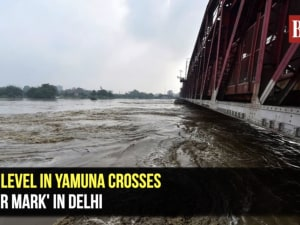Yamuna river flows above the danger mark in Delhi