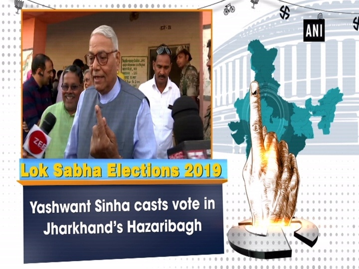 Yashwant Sinha casts vote in Jharkhand's Hazaribagh
