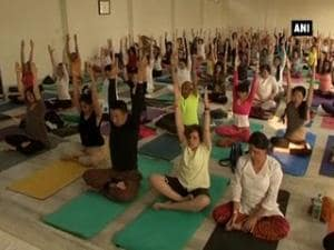 Yoga enthusiasts meet at week-long fest in Rishikesh