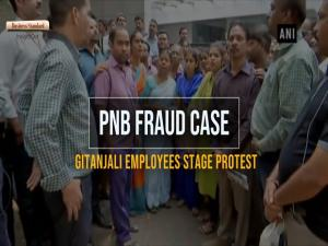 PNB fraud case: Gitanjali employees stage protest in Mumbai
