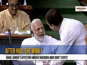 No Confidence Motion: Rahul Gandhi's affection ambush Narendra Modi didn't expect