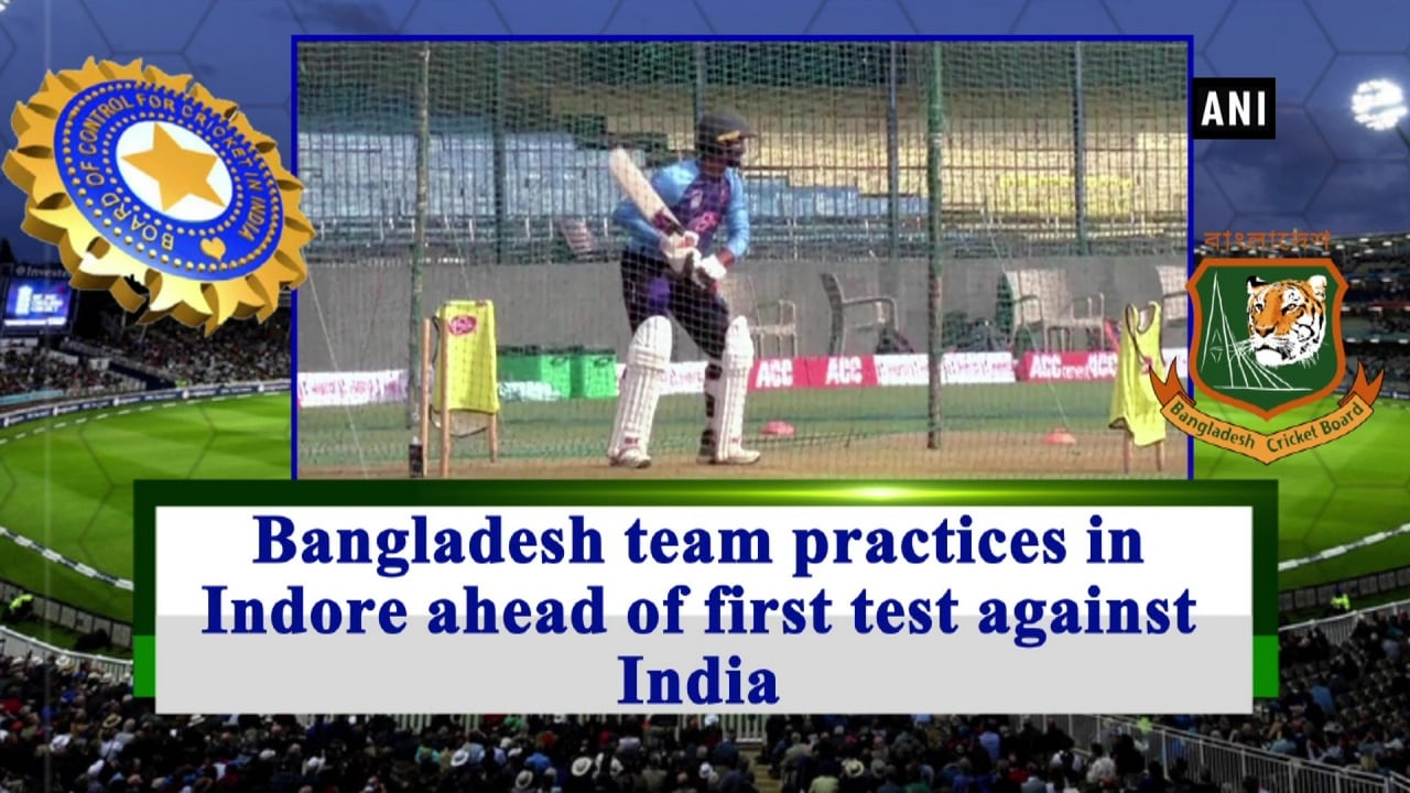 Bangladesh team practices in Indore ahead of first test against India
