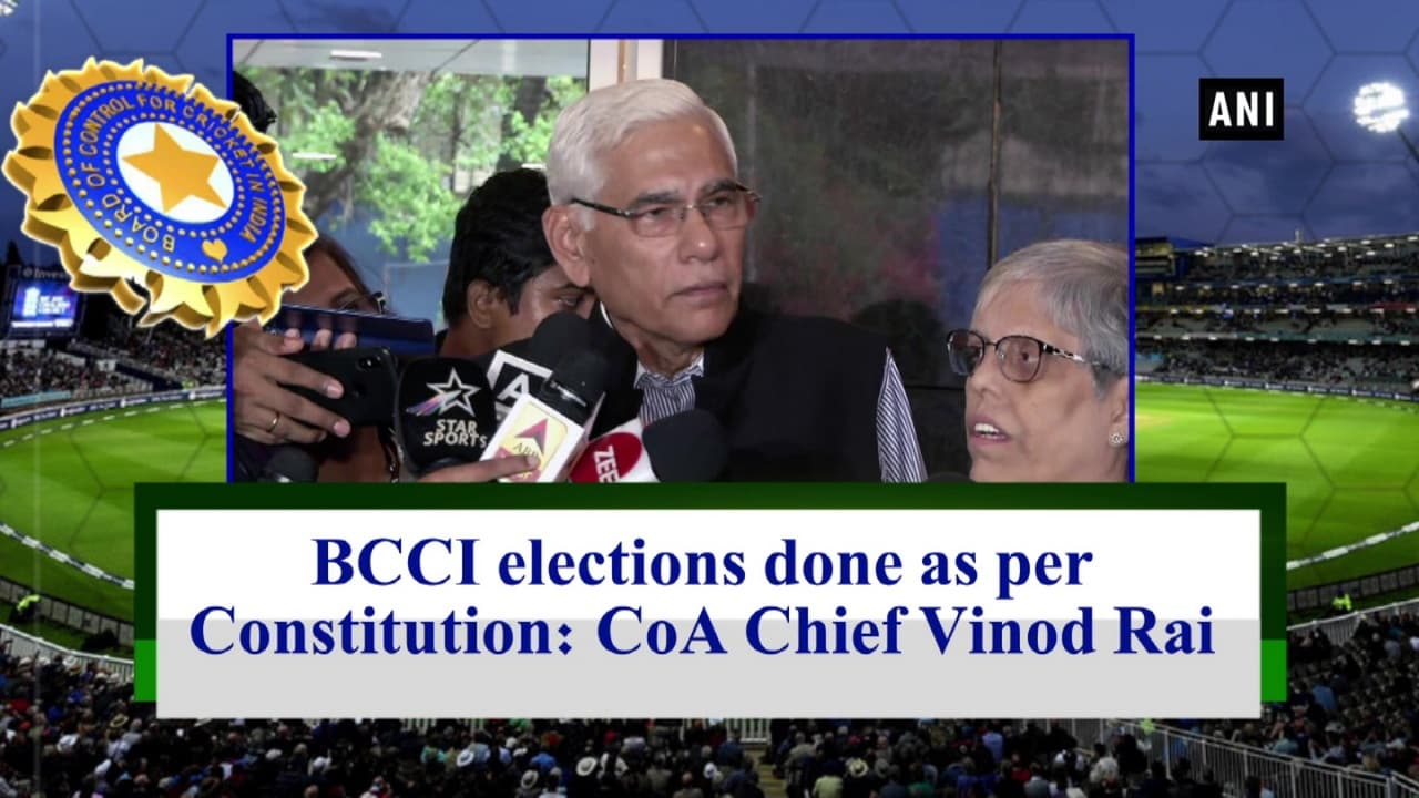 BCCI elections done as per Constitution: CoA Chief Vinod Rai