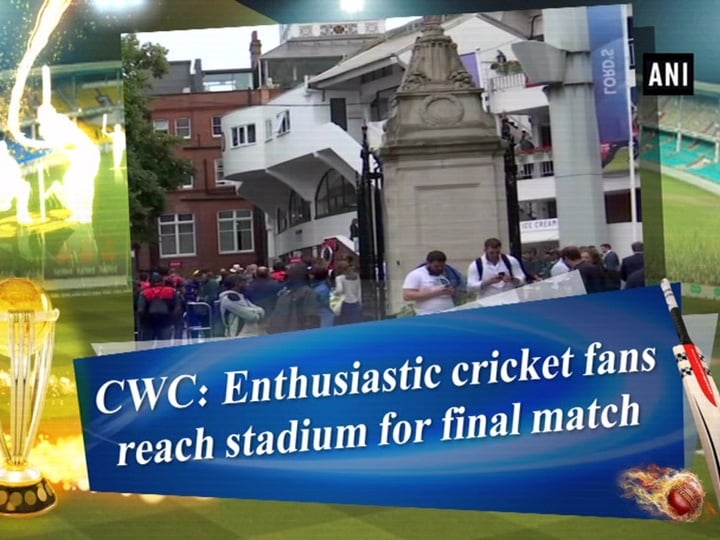 CWC: Enthusiastic cricket fans reach stadium for final match