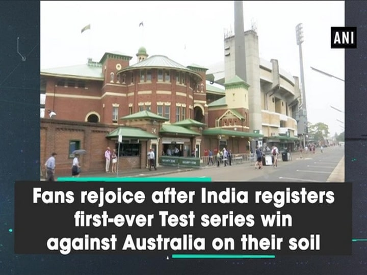 Fans rejoice after India registers first-ever Test series win against Australia in their soil