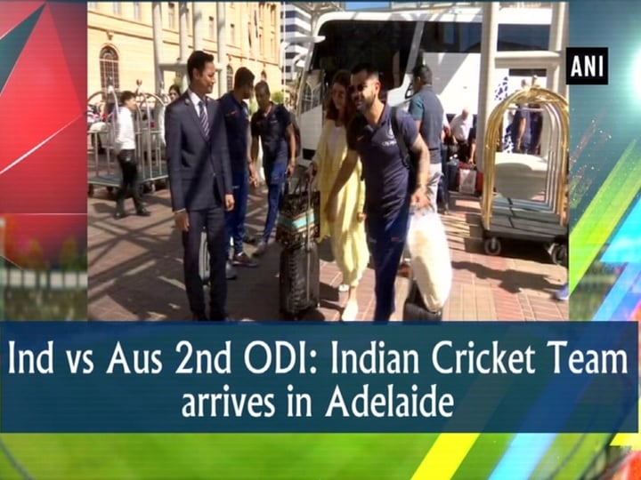 Ind vs Aus 2nd ODI: Indian Cricket Team arrives in Adelaide