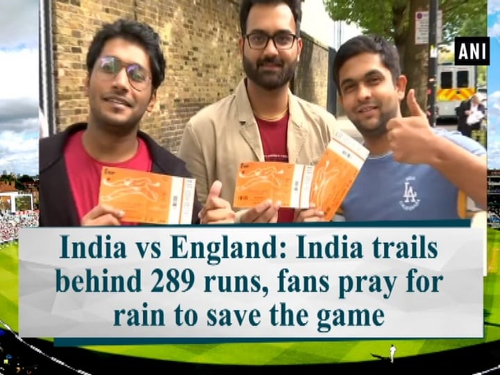 India vs England: India trails behind 289 runs, fans pray for rain to save the game