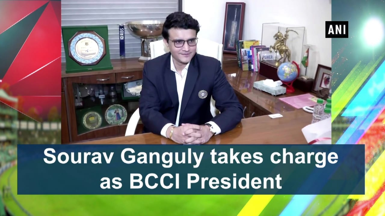Sourav Ganguly takes charge as BCCI President