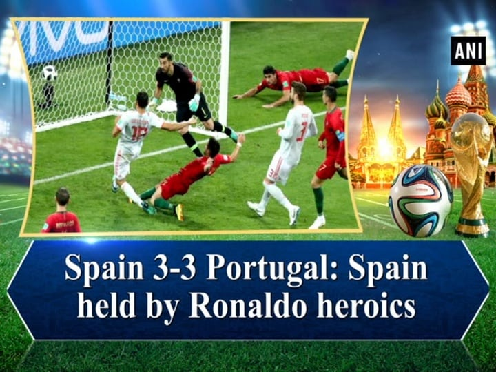 Spain 3-3 Portugal Spain held by Ronaldo heroics