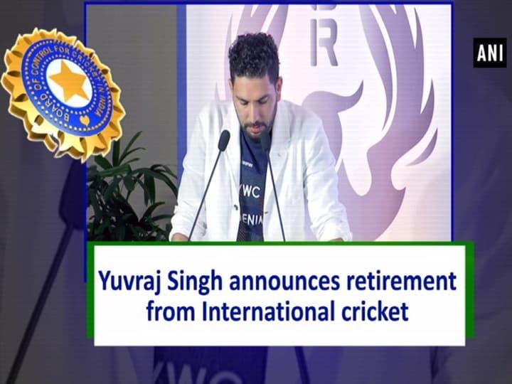 Yuvraj Singh announces retirement from International cricket