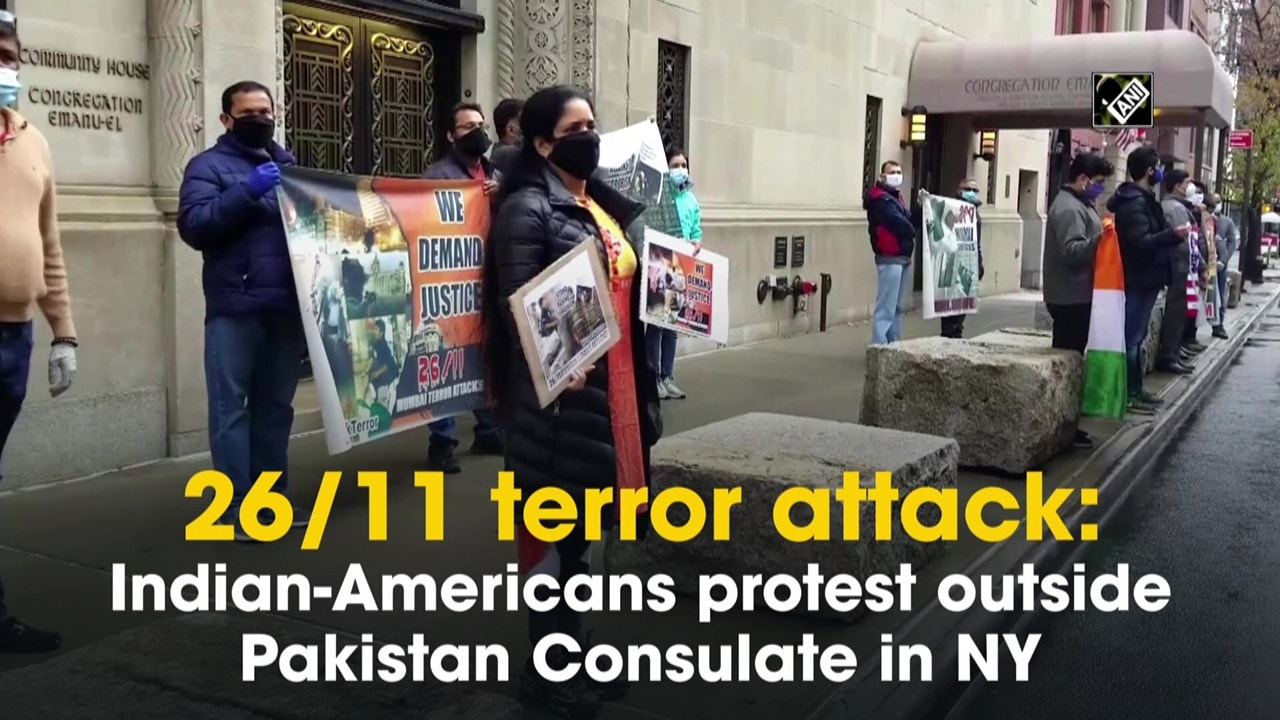 26/11 terror attack: Indian-Americans protest outside Pakistan Consulate in NY