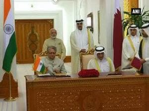 7 agreements signed in presence of PM Modi, Emir of Qatar
